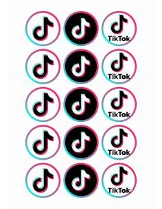 Papel de azúcar para galletas Tik Tok