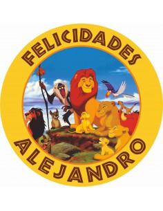 Papel de azúcar El Rey León personalizado