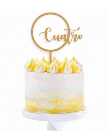 Topper tarta círculo con edad