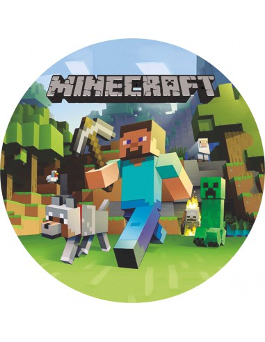 Papel de azúcar tarta Minecraft