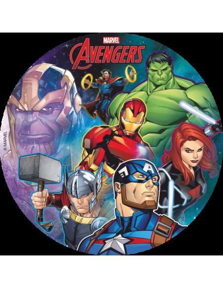 Papel de azúcar tarta Avengers