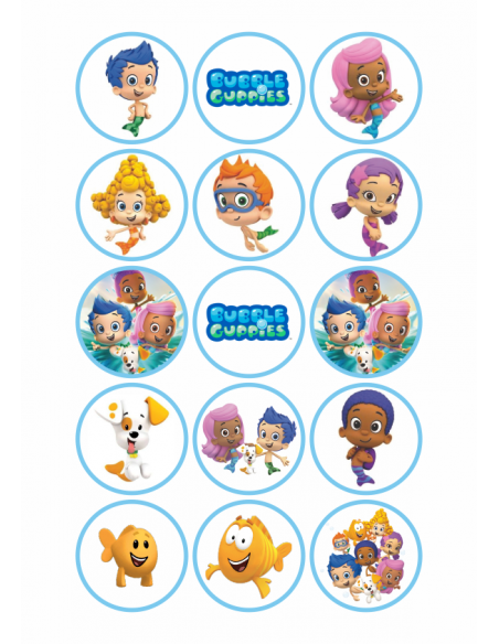 Papel de azúcar para galletas Bubble Guppies