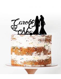 Topper tarta pareja novias