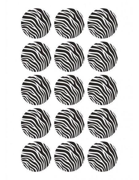 Papel de azúcar piel de cebra para galletas