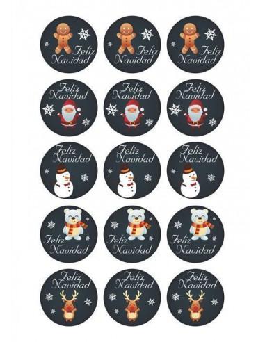 Papel de azúcar navideño para galletas