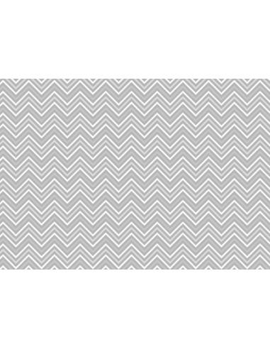 Papel de azúcar chevron gris