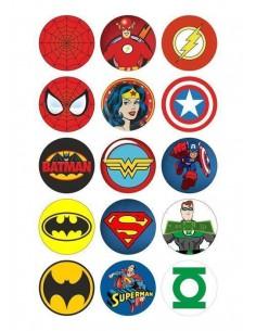 Papel de azúcar superheroes