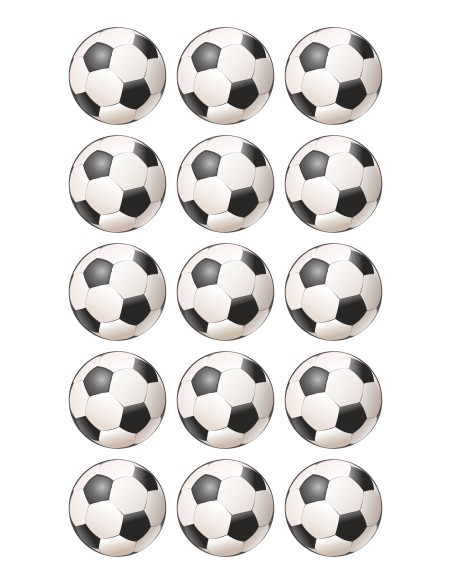 Papel de azúcar balones fútbol