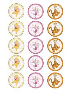 Papel de azúcar Winnie de Pooh