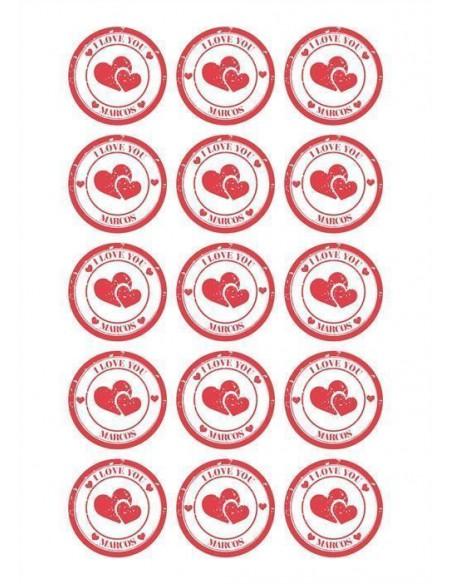 Papel de azúcar Love personalizado para galletas