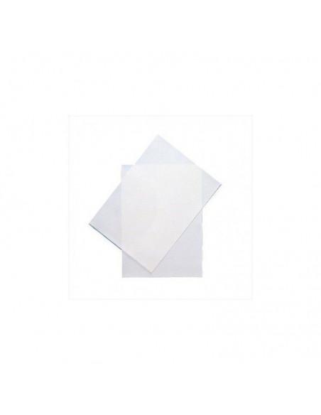 Hoja de papel de azúcar en blanco